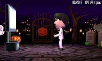 Gomez playing Wii U in his new Halloween interior.jpg